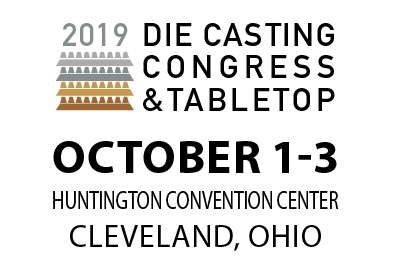 , 2019 NADCA's Die Casting Congress & Tabletop